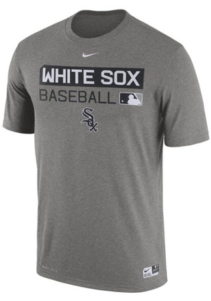 Nike White Sox Mens Grey Team Issue 1.7 Performance Tee