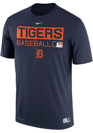 Nike Detroit Tigers Mens Navy Blue Team Issue 1.7 Fashion Tee