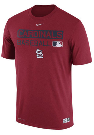 Nike St Louis Cardinals Mens Red Team Issue Dri-Fit Tee