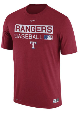 Nike Texas Rangers Mens Red Team Issue Dri-Fit Tee