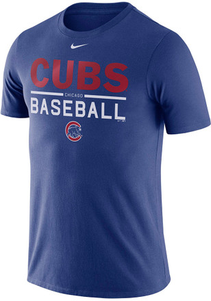 Nike Chicago Cubs Mens Blue Practice 1.7 Tee