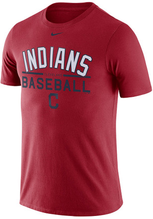 Nike Cleveland Indians Mens Red Practice 1.7 Tee