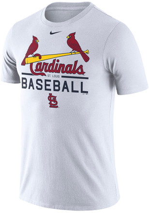Nike St Louis Cardinals Mens White Practice 1.7 Tee