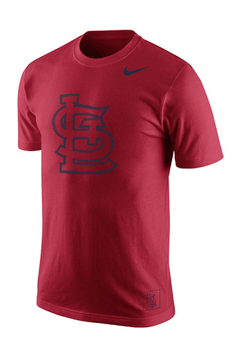 Nike st louis cardinals mens red screen print short sleeve for St louis t shirt printing
