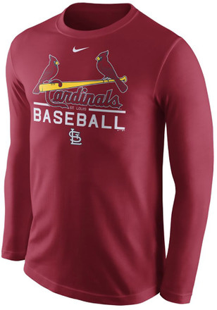 Nike St Louis Cardinals Mens Red Practice Tee