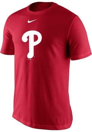 Nike Phillies Mens Red Logo Legend Performance Tee