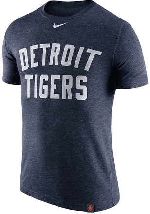 Nike Detroit Tigers Mens Navy Blue Dri Blend DNA 1.7 Performance Tee