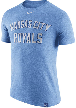 Nike Kansas City Royals Mens Light Blue Dri Blend DNA 1.7 Fashion Tee
