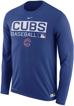Nike Chicago Cubs Mens Blue Legend Team Issue Performance Tee