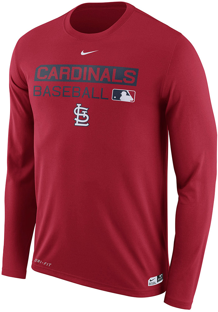 Nike St Louis Cardinals Red Legend Team Issue Long Sleeve T-Shirt - Image 1 5e998f996
