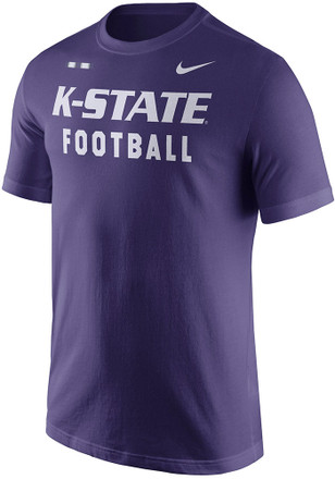 Nike K-State Wildcats Mens Purple Facility Tee