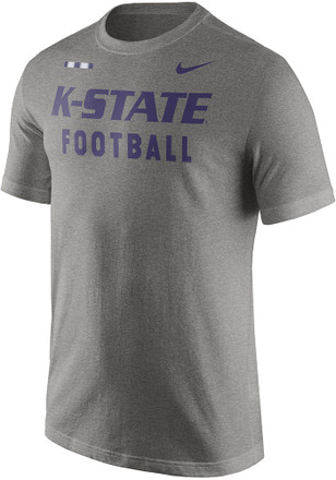 Nike K-State Wildcats Mens Grey Facility Tee