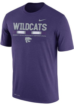Nike K-State Wildcats Mens Purple Staff Legend Tee