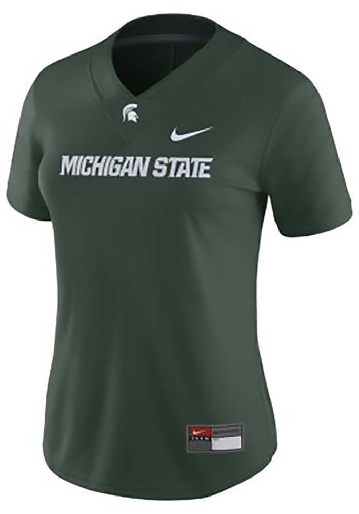 Nike Michigan State Spartans Womens Green Football Game Football Jersey - Image 1
