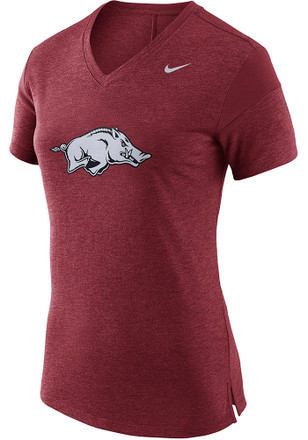 Nike Arkansas Razorbacks Womens Fan Crimson Short Sleeve Tee