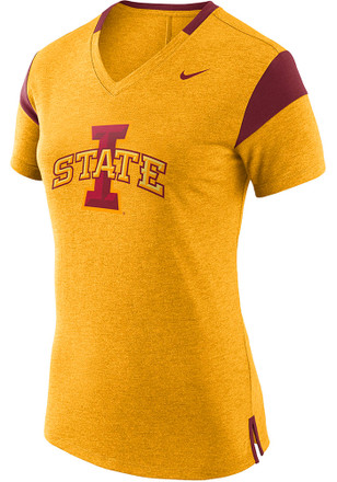 Nike Iowa State Cyclones Womens Fan Gold Short Sleeve Tee