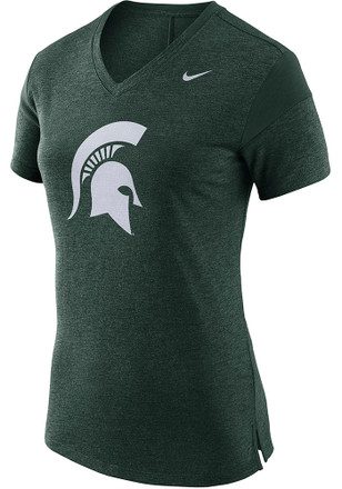 Nike Michigan State Spartans Womens Fan Green Short Sleeve Tee
