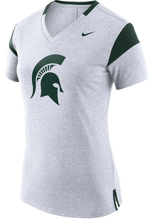 Nike Michigan State Spartans Womens Fan White Short Sleeve Tee
