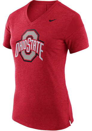 Nike Ohio State Buckeyes Womens Fan Red Short Sleeve Tee