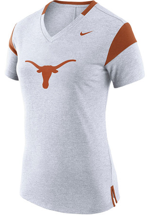 Nike Texas Longhorns Womens Fan White Short Sleeve Tee