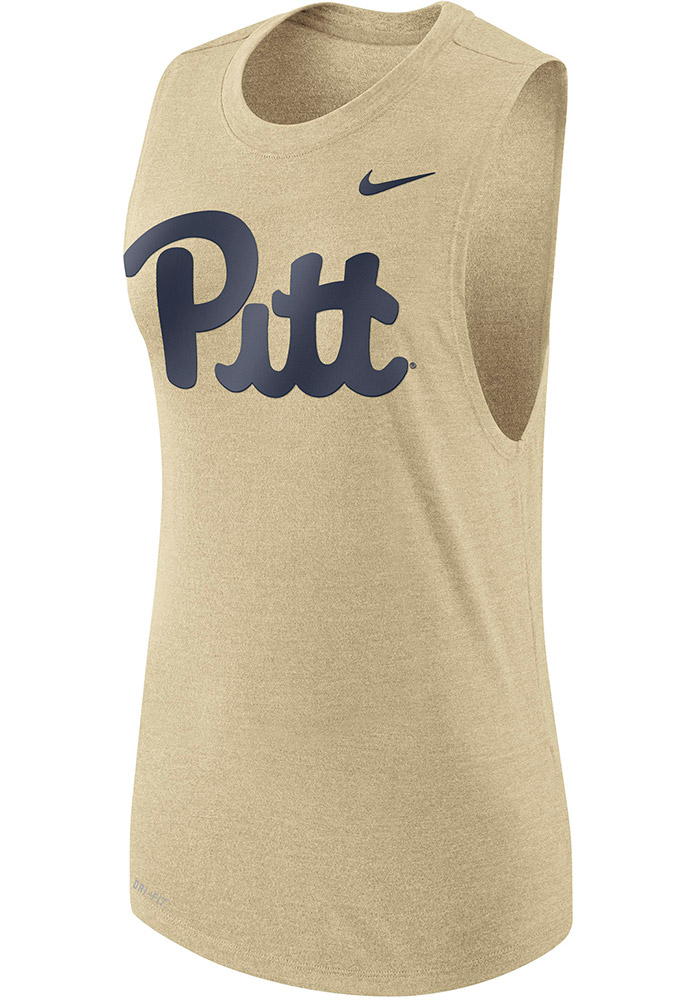 Nike Pitt Panthers Womens Gold Muscle Tank Top - Image 1