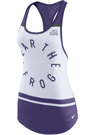 TCU Horned Frogs Womens Nike Circle Tank Top - White