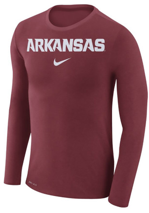 Nike Arkansas Razorbacks Mens Crimson Marled Fashion Tee