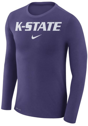 Nike K-State Wildcats Mens Purple Marled Fashion Tee