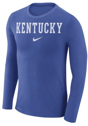 Nike Kentucky Wildcats Mens Blue Marled Fashion Tee