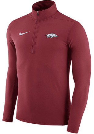 Nike Arkansas Razorbacks Mens Crimson Element 1/4 Zip Pullover