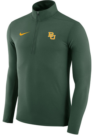 Nike Baylor Bears Mens Green Element 1/4 Zip Pullover