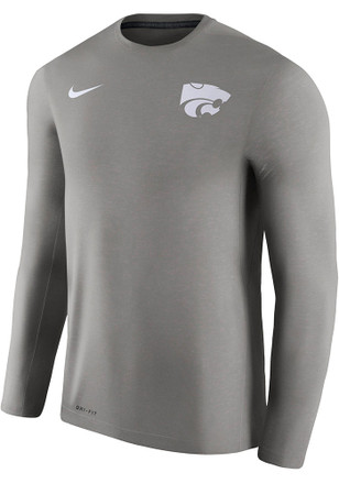 Nike K-State Wildcats Mens Grey Coach Tee