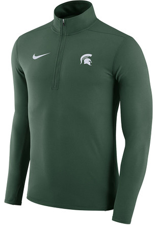 Nike Michigan State Spartans Mens Green Element 1/4 Zip Pullover