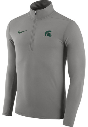 Nike Michigan State Spartans Mens Grey Element 1/4 Zip Pullover
