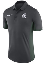 Nike Michigan State Spartans Mens Charcoal Evergreen Short Sleeve Polo
