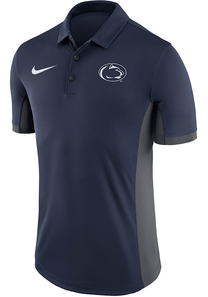 Nike Penn State Nittany Lions Mens Navy Blue Evergreen Short Sleeve Polo - Image 1