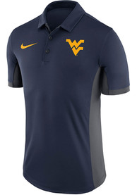 West Virginia Mountaineers Nike Evergreen Polo Shirt - Navy Blue