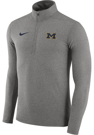 Nike Michigan Wolverines Mens Grey Element 1/4 Zip Pullover