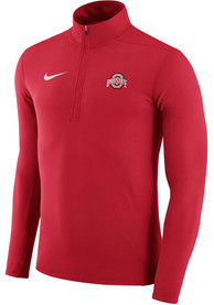 Ohio State Buckeyes Nike Element 1/4 Zip Pullover - Red