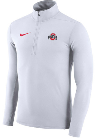 Nike Ohio State Buckeyes Mens White Element 1/4 Zip Pullover