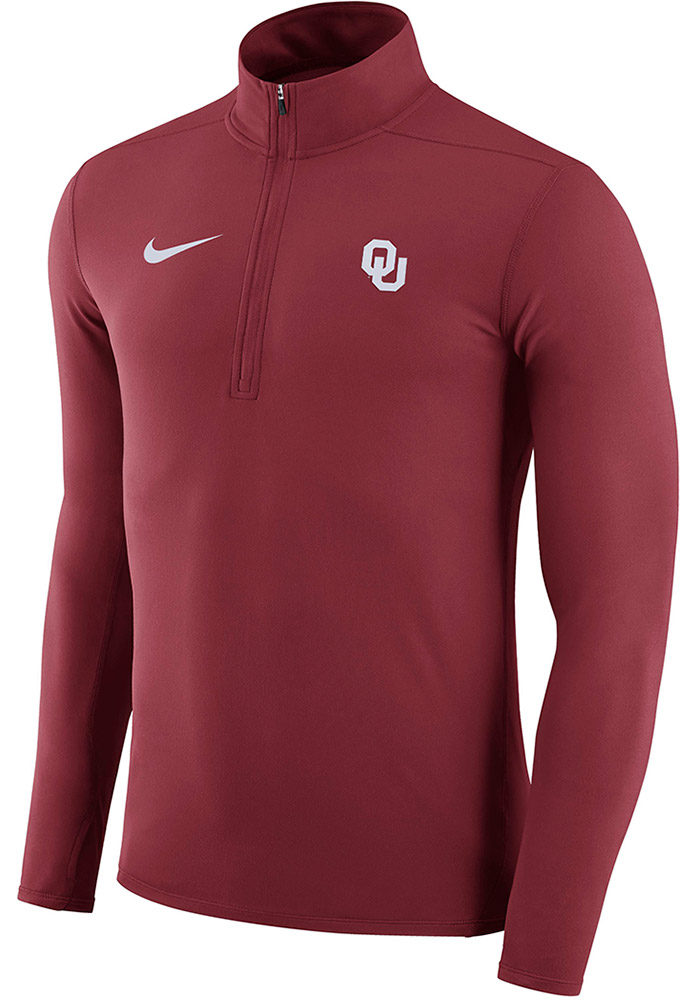 Nike Oklahoma Sooners Mens Crimson Element Long Sleeve 1/4 Zip Pullover - Image 1