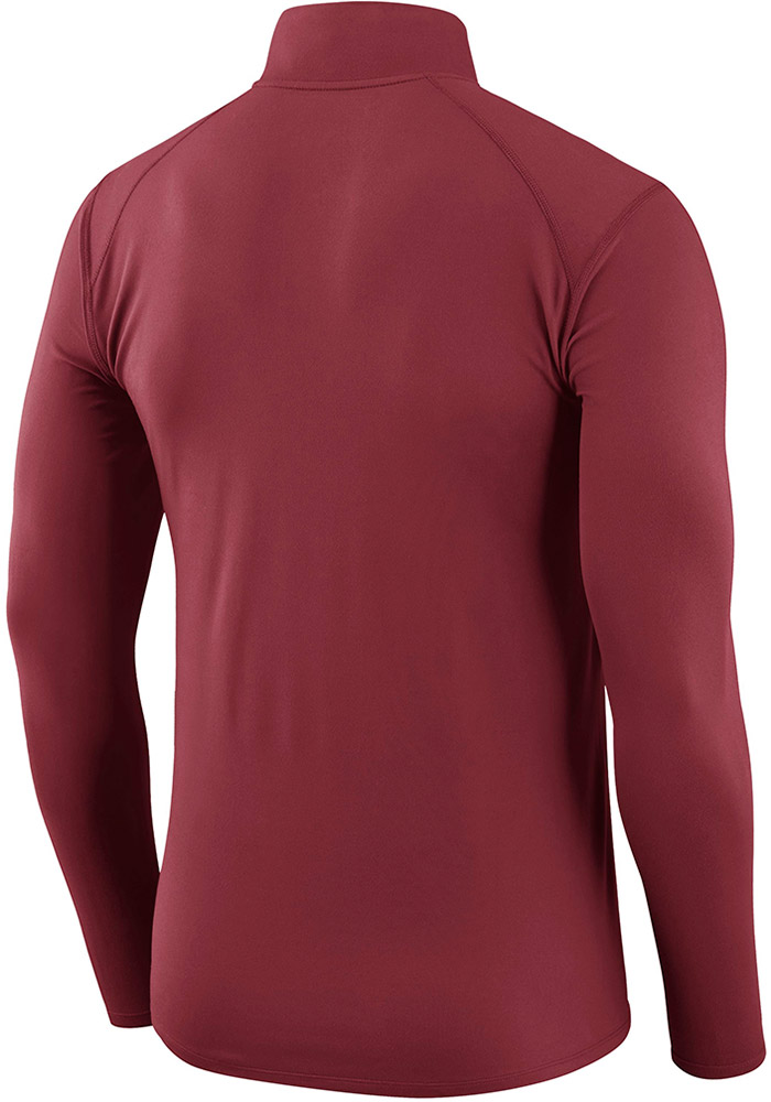 Nike Oklahoma Sooners Mens Crimson Element Long Sleeve 1/4 Zip Pullover - Image 2
