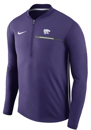 Nike K-State Wildcats Mens Purple Coaches 1/4 Zip Pullover