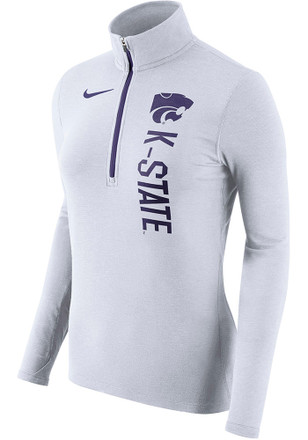 Nike K-State Wildcats Womens Element White 1/4 Zip Pullover