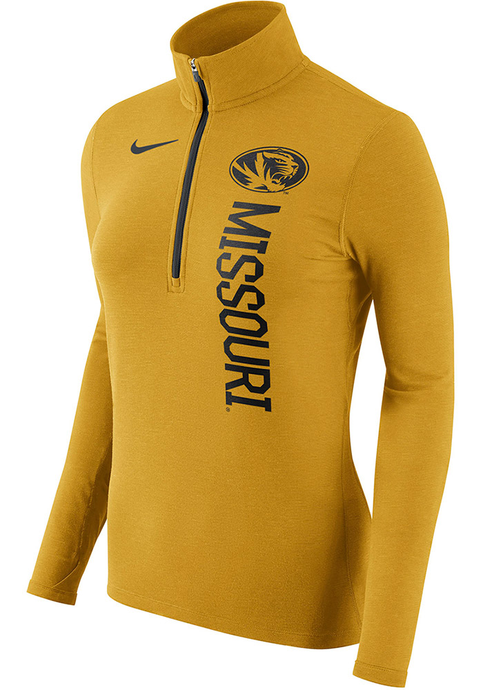 Nike Mizzou Tigers Womens Gold Element 1 4 Zip Pullover - 12518411 6ee3ef3f5