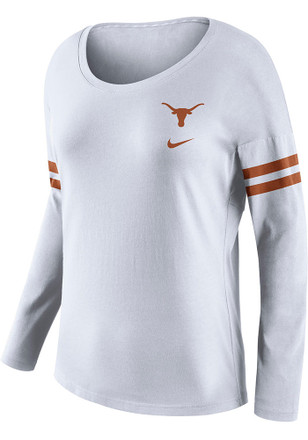 Nike Texas Longhorns Womens Tailgate White T-Shirt