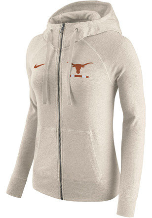 Nike Texas Longhorns Womens Oatmeal Gym Vintage Full Zip Jacket