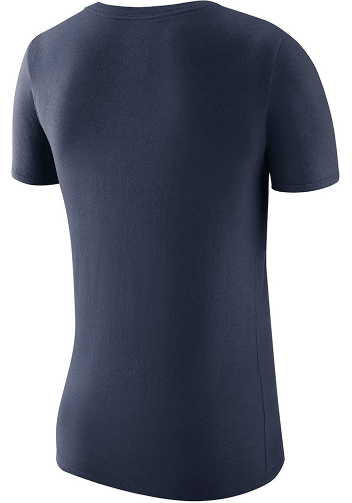 Nike Michigan Wolverines Womens Navy Blue Local Elements Scoop T-Shirt - Image 2