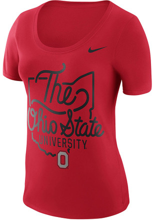 Nike Ohio State Buckeyes Womens Local Elements Red Scoop T-Shirt