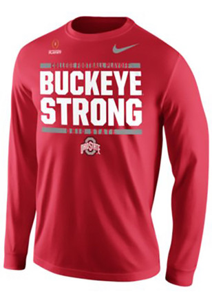 Nike The Ohio State University Mens Red Chasing Greatness Tee